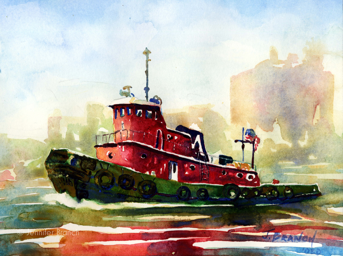 tugboat painting
