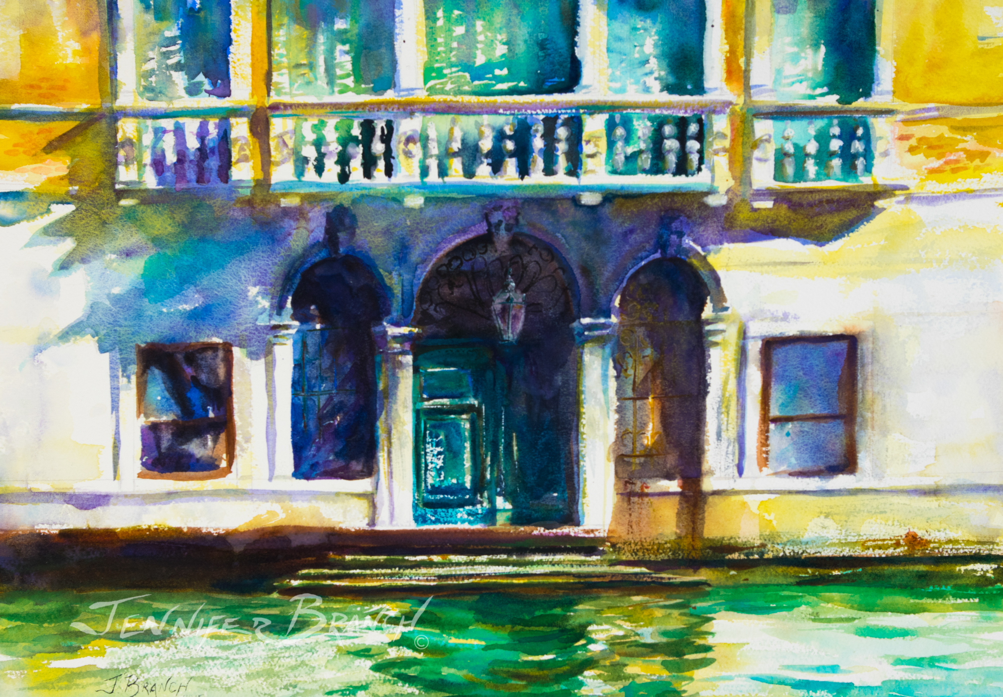 Mocenigo Ca'Vecchia Watercolor Painting by Jennifer Branch