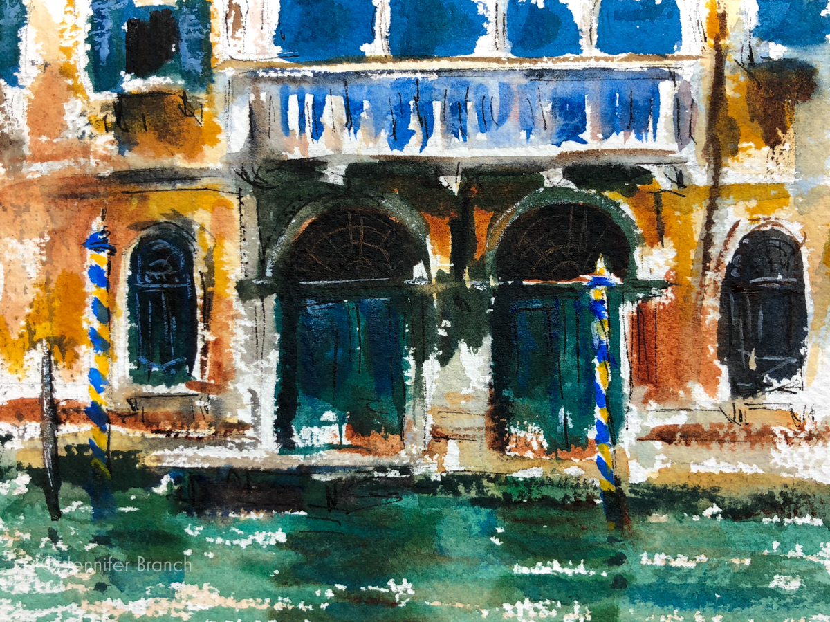 Sketching Venice, Portico by Jennifer Branch