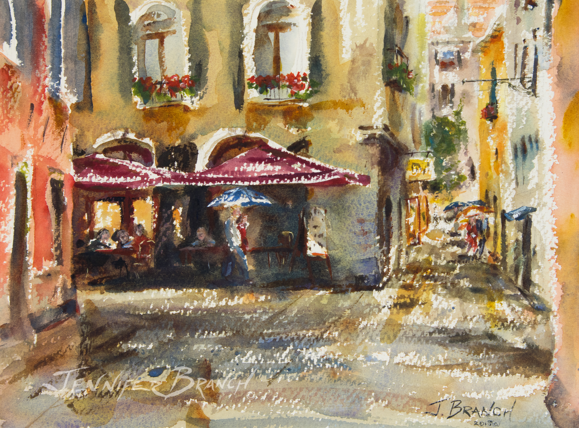 Venice Rain Painting Tutorial watercolor painting tutorial