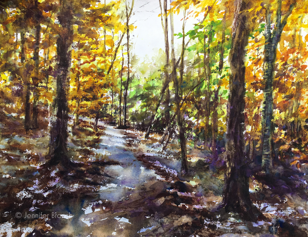 Woods Path Painting Tutorial watercolor painting tutorial