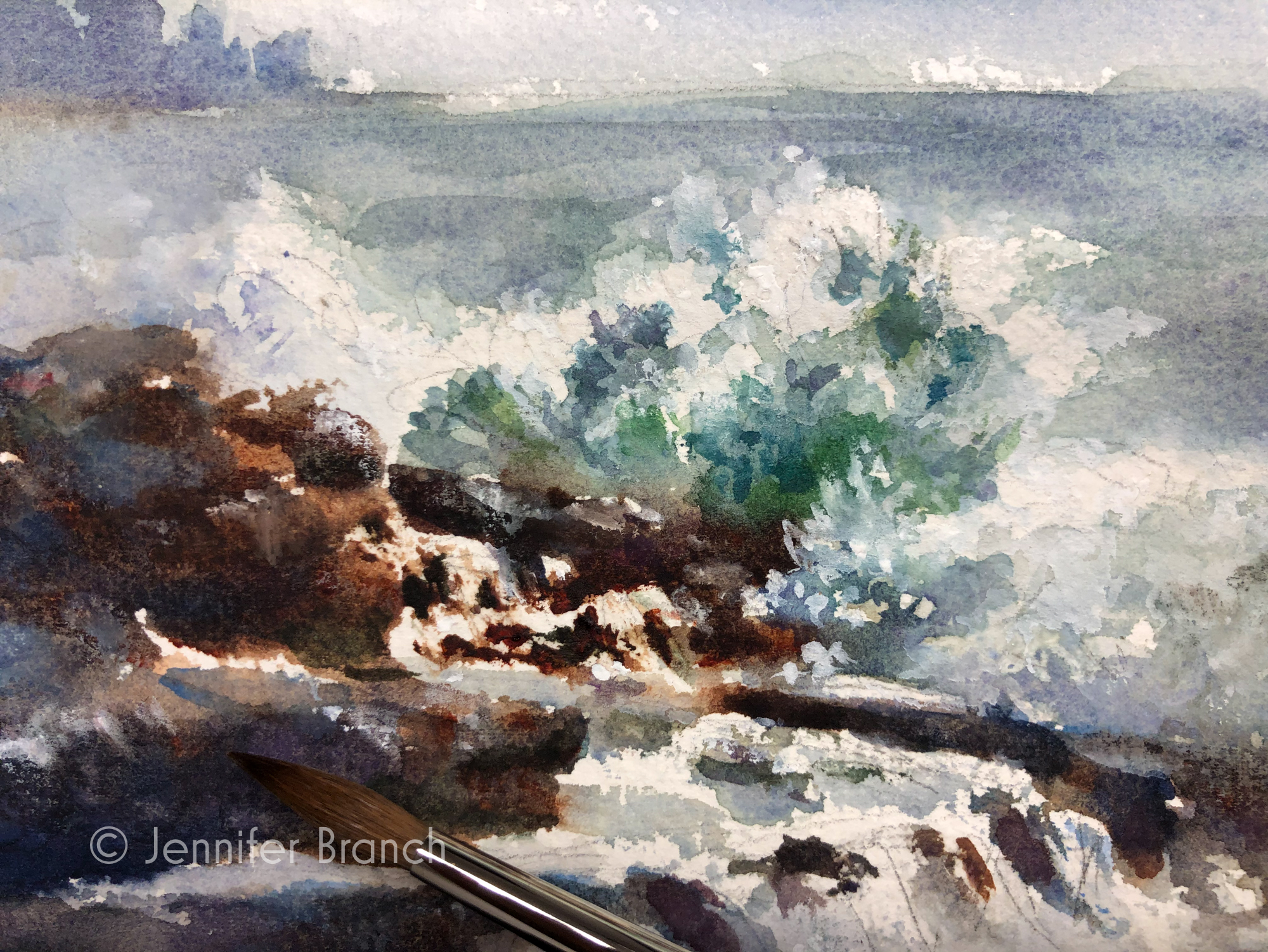 Maine surf sketch