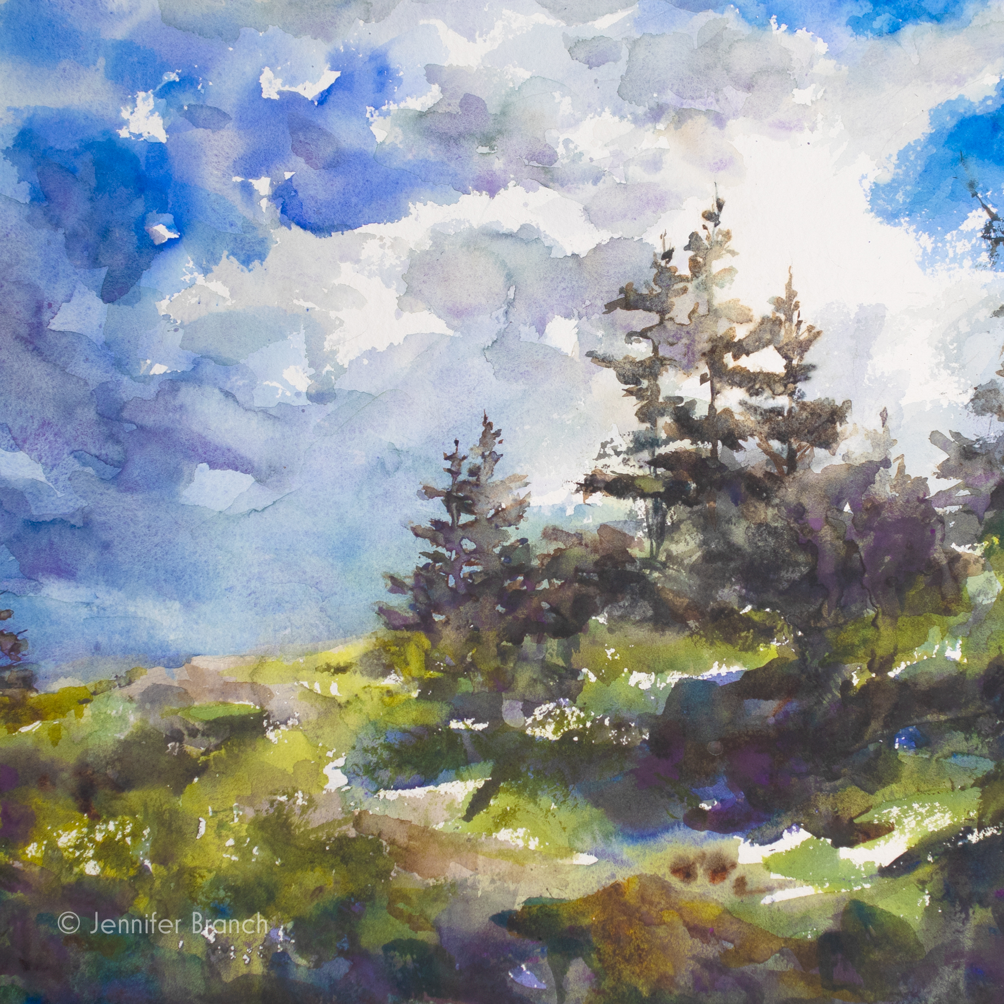 Maine Sky painting